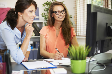 easier: Working together is easier and more effective Stock Photo