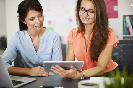 technology people: It can help find new customers Stock Photo