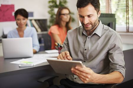 modern office: New technology at the business is necessity