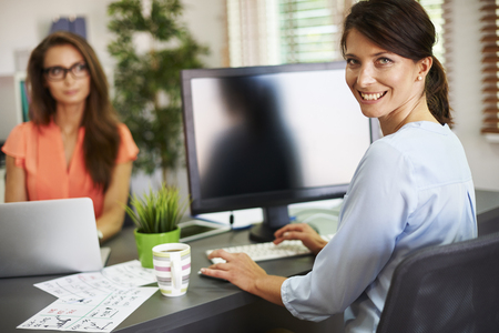 person computer: We always work together in the office