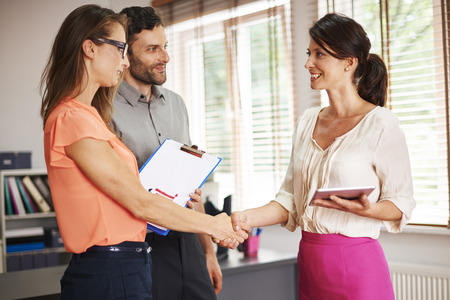 partnership: Thank you for this meeting Stock Photo