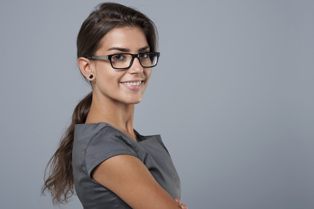 She's brimming of self confidence Stock Photo - 44684968