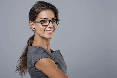 Ze is vol zelfvertrouwen