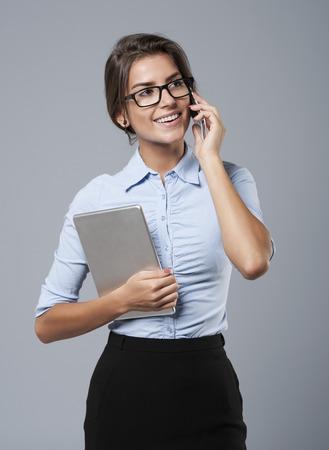 She know how talk with customers 版權商用圖片 - 44685153