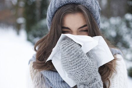 There is nothing worse than winter illness Zdjęcie Seryjne - 44974183