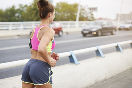 pleasurable: Jogging in the city can be really pleasurable