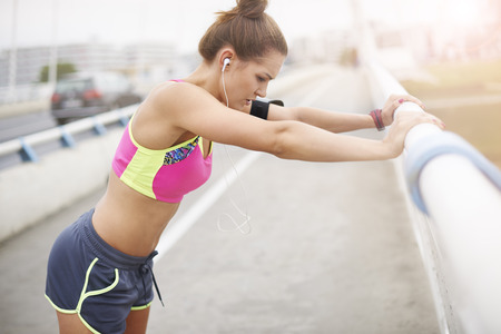 leaning by barrier: Stretching as a very important part of the training