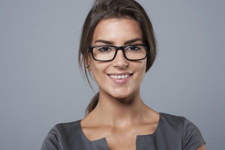young worker: Portrait of charming young businesswoman