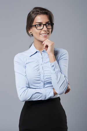 Portrait of beautiful young businesswoman Stockfoto