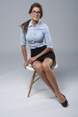 formal clothing: Portrait of woman dressed in formal clothing Stock Photo