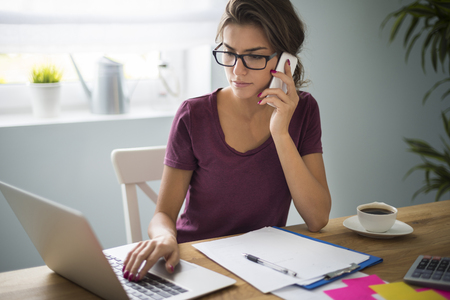 calling on phone: Having home office is a great solution