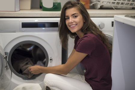 dutiful: This woman is a perfect housewife