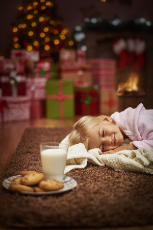 night school: Little snack and its time to go to sleep Stock Photo