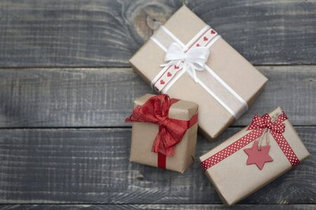 moños de navidad: regalos de Navidad en tiempo de magia