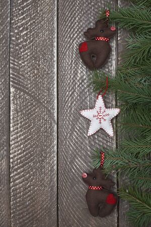 hanged: Cute christmas ornaments hanged on the branch