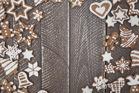 christmas symbols: Gingerbreads mean that Christmas is very close Stock Photo