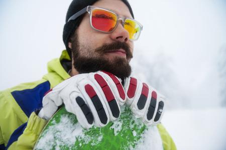 gafas de sol: Snowboarder  Foto de archivo