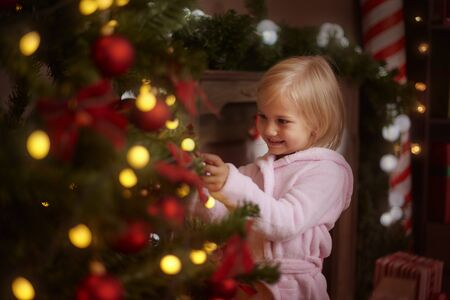 decorating christmas tree: This is special time for little children