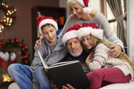 joy of reading: Do you want to hear another Christmas tale? Stock Photo
