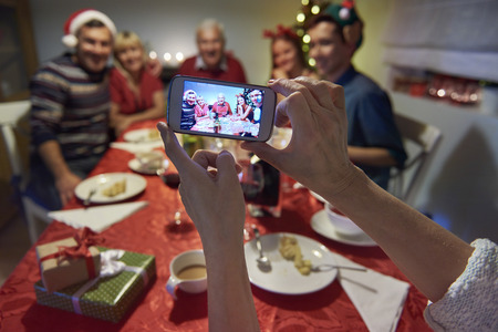 family indoors: Family memories from christmas eve