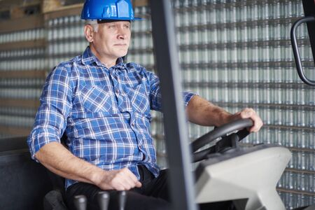 foreman industrial: Focus on work at the factory
