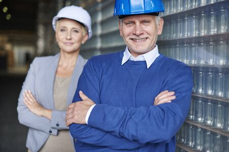 our company: Manegement in our company is very professional Stock Photo