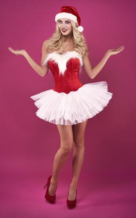 sexy costume: Sexy woman in santa claus costume