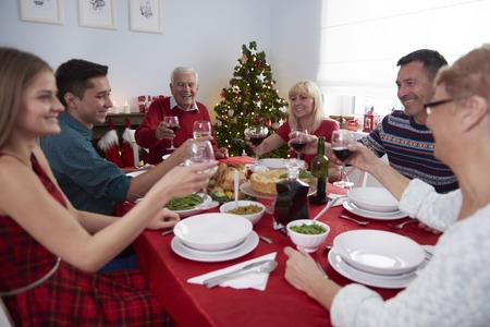 comida de navidad: Finalmente nos reunimos todos juntos