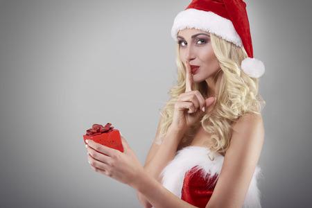 christmas gift box: Silence sign and small gift box