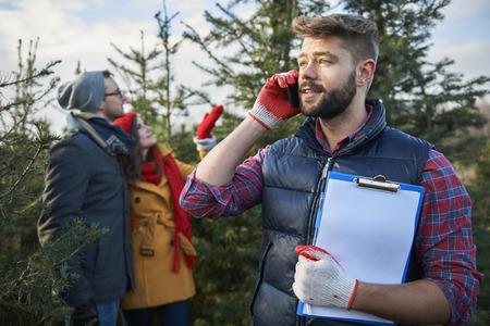 busy beard: Hardworking man at his work Stock Photo
