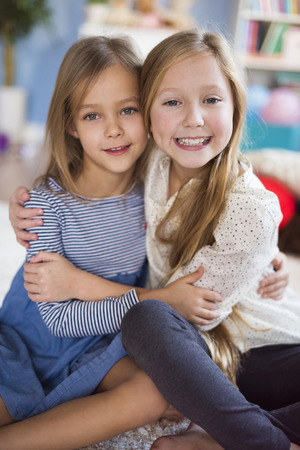 pre adolescent girl: Strong bond between two best friends