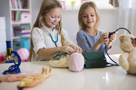 elementary age girl: Medical equipment used by little girls