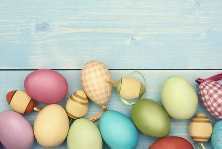 lower section: Lower section fulfilled with colorful easter eggs
