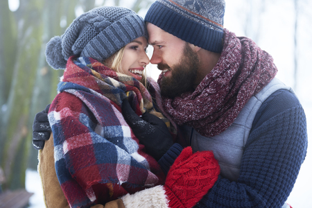 romantic man: This is perfect winter day for lovers