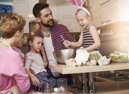 fun activity: Spending time with family can be a great fun Stock Photo