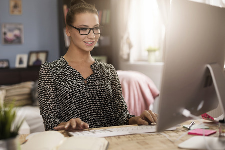 very good: Home office is a very good idea Stock Photo
