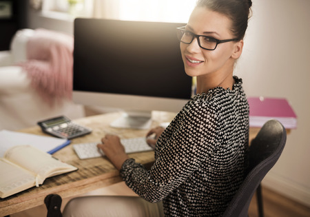 successful woman: Successful woman at the home office