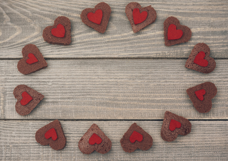 sweet heart: Sweet cookies with red heart