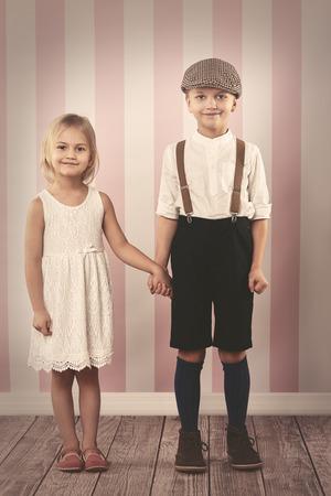 nene y nena: linda chica y su novio hermoso