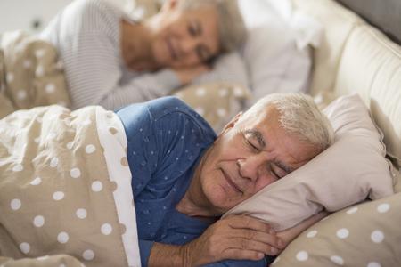 静かな寝室で夢を見る