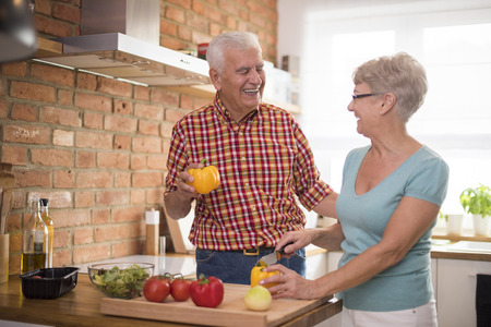 cutting vegetables: Healthy diet is very important at this age