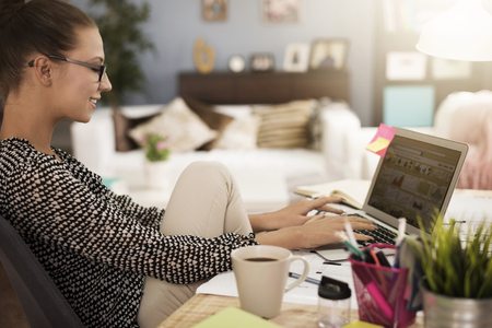home business: Comfortable position to work at the desk