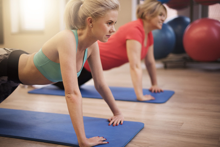 sport woman: Some exercises to calm yourself Stock Photo