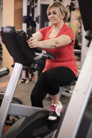 cardio workout: Woman which loves cardio workout