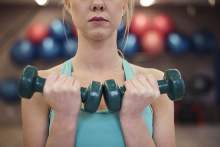 lower section view: Workout is her big passion Stock Photo