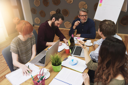 Work in team always ending the success Stock Photo