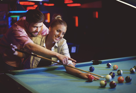 pool game: Their first date in pool game club