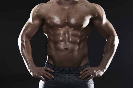 easily: Big muscles are easily seen
