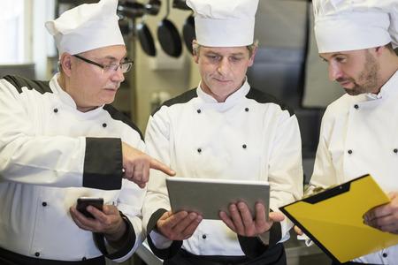 Digital technology is helpful even in the kitchen 版權商用圖片