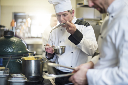 Each meal is checked by the chef